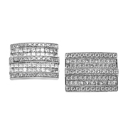 18K White Gold Diamond Cufflink.
