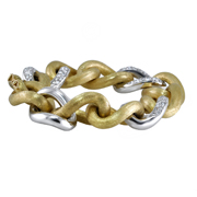 18K Two Tone Diamond Ladies' Bracelet,2.30 Ctw