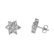 14K White Gold Earrings.  1.45Ct