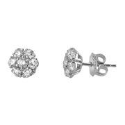 14K White Gold Earrings.  1.40Ct