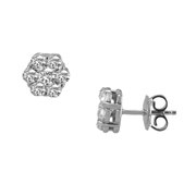 14K White Gold Earrings.  1.55Ctw