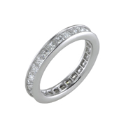 14K White Gold Diamond Eternity Ring 3.26 Ctw