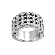 18K White Gold Diamond Ring 5.15Ctw
