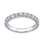 White Gold Eternity Band 14K