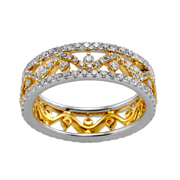 18K White & Yellow Gold Diamond Band.