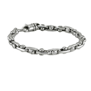 14K White Gold Unisex Sliding Round Cut Diamonds Bracelet.  1.76 Ctw.