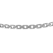 14K White Gold Diamond Unisex Bracelet.