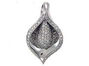 18K/ 102R:1.21CT  LADIES DIAMOND. PENDANT
