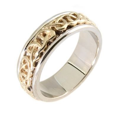 14K Gold Celtic Wedding Rings