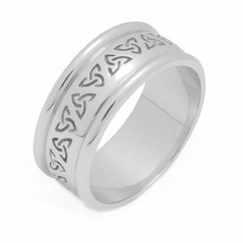 18K Gold Celtic Wedding Rings