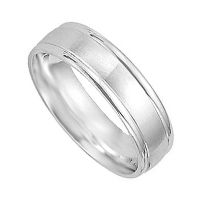 14K Gold Diamond Cut Wedding Bands 6.00Mm