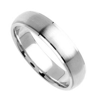 Platinum Diamond Cut Wedding Bands 5.00Mm