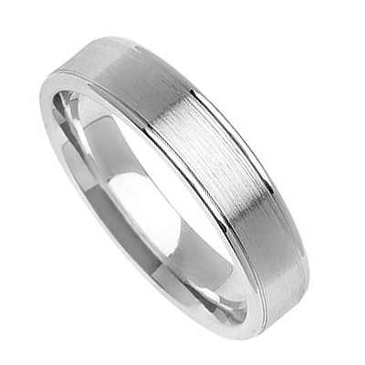 Palladium Diamond Cut Wedding Bands 4.00Mm