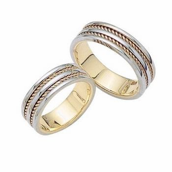14K Gold Wedding Band Sets
