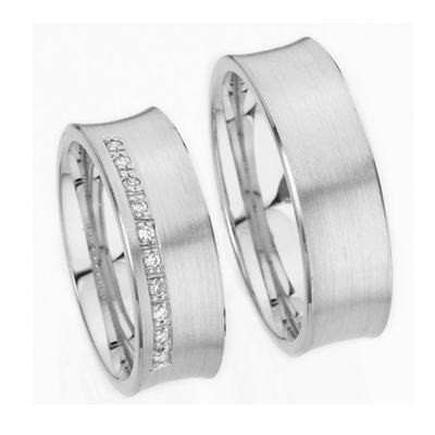 18K Gold Wedding Band Sets