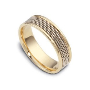 14K Gold Handmade Wedding Rings   14Kdj1367