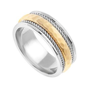 14K Gold Handmade Wedding Rings   14Kdj1377