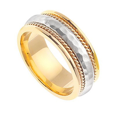 14K Gold Handmade Wedding Rings   14Kdj1378