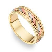 14K Gold Handmade Wedding Rings   14Kdj1380