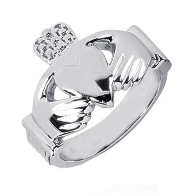Platinum Claddagh Rings