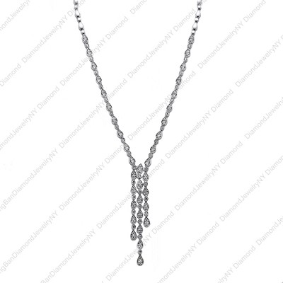 14K White Gold Diamond Necklace 2.40 Ctw.