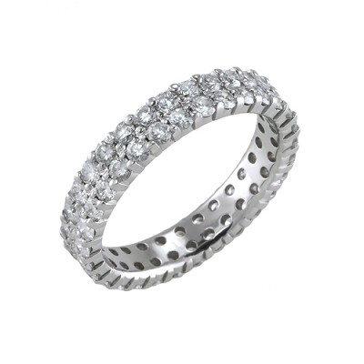 14K White Gold Diamond Eternity Ring 1.80 Ctw