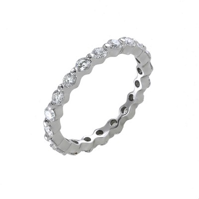 Platinum Diamond Eternity Ring 1.12 Ctw