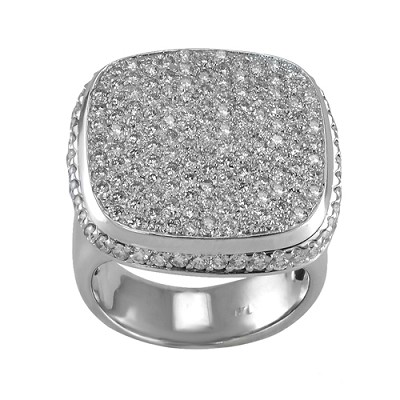 14K White Gold Diamond Ring 1.75 Ctw
