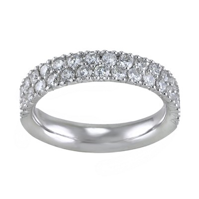 14K White Gold Diamond Eternity Ring 1.00 Ctw